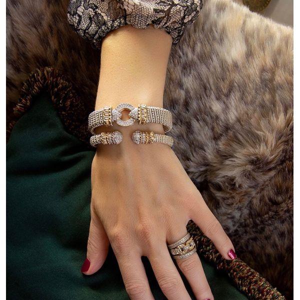 Sterling Silver &14kt Gold Bracelet Image 2 Parris Jewelers Hattiesburg, MS