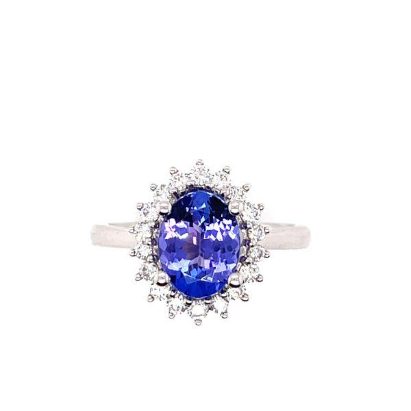14 kt White Gold Tanzanite and Diamond Ring