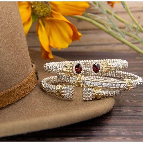 Sterling Silver &14kt Gold Diamond Bar Bracelet Image 2 Parris Jewelers Hattiesburg, MS