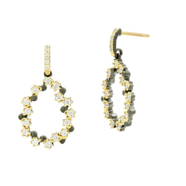 14K Gold Plated Teardrop Dangle Earrings