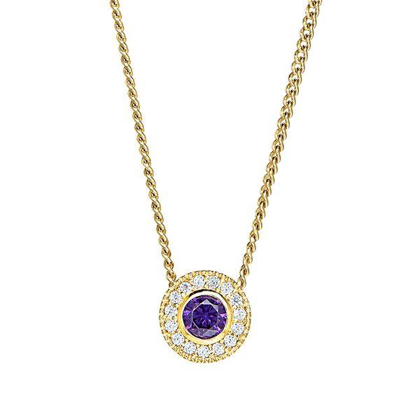 Gold Vermeil February Birthstone Necklace Parris Jewelers Hattiesburg, MS