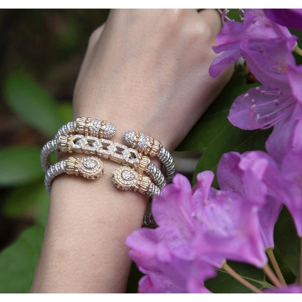 14 kt Yellow Gold and Sterling Silver Diamond Bracelet by Alwand Vahan Image 2 Parris Jewelers Hattiesburg, MS