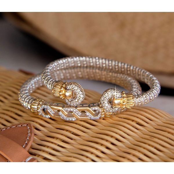 Sterling Silver and 14 kt Yellow Gold Bracelet by Vahan Image 2 Parris Jewelers Hattiesburg, MS