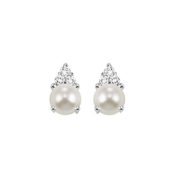 10 kt White Gold Pear1 and Diamond Earrings