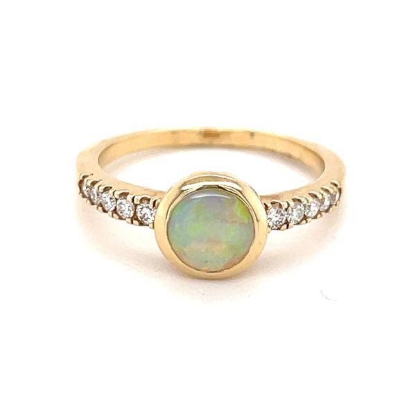 14K Yellow Gold Australian Opal Ring