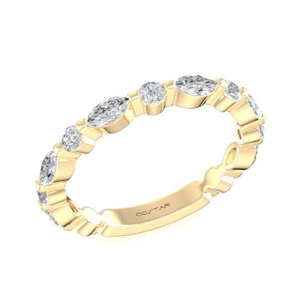 14 kt Yellow Gold Diamond Wedding Band