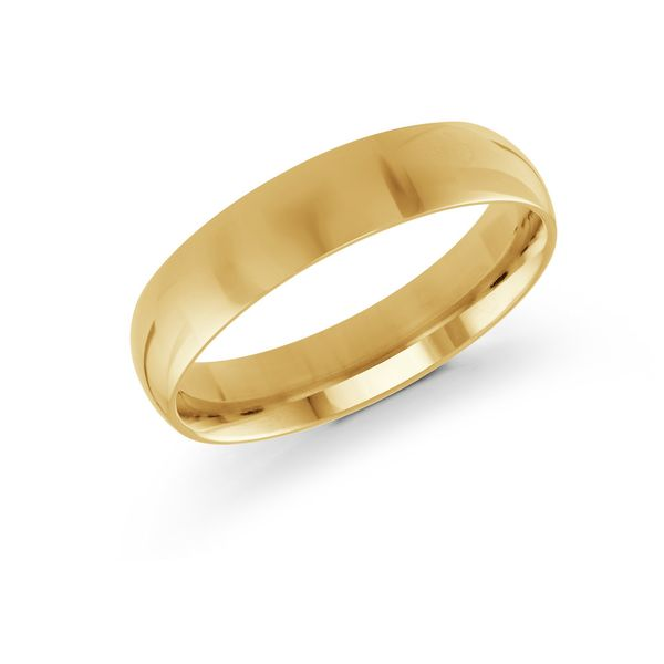 Yellow gold 5mm band