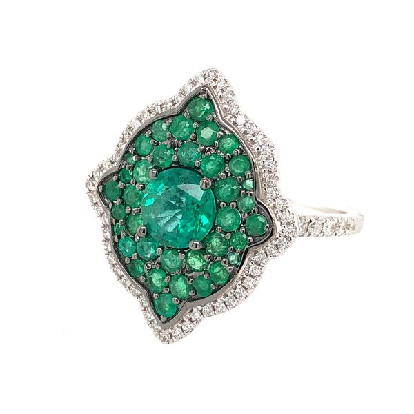 18K Emerald Ring Image 2 Parris Jewelers Hattiesburg, MS