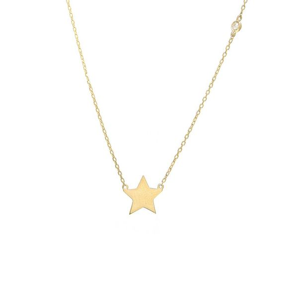 14K Yellow Gold Star Pendant