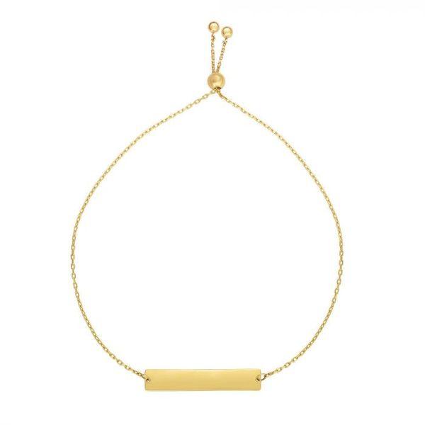 14K Gold ID Friendship Bracelet