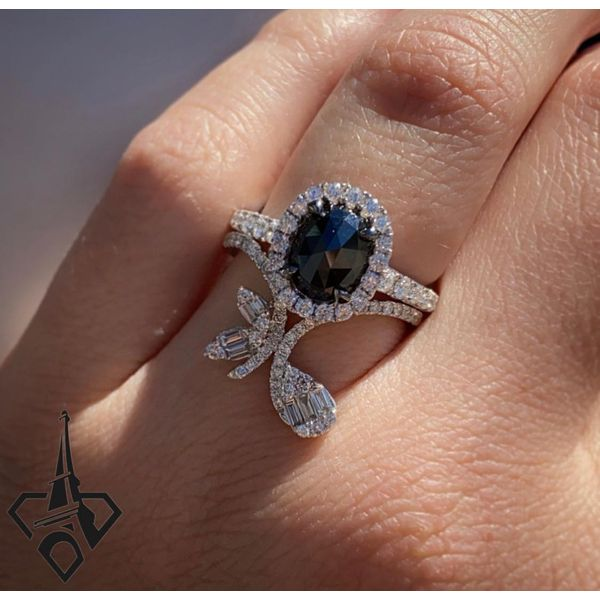 18 kt White Gold Engagement Ring with Center Diamond Included Image 2 Parris Jewelers Hattiesburg, MS