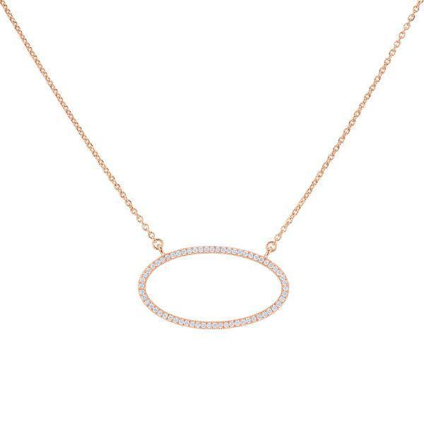 14 kt Rose Gold Diamond Necklace