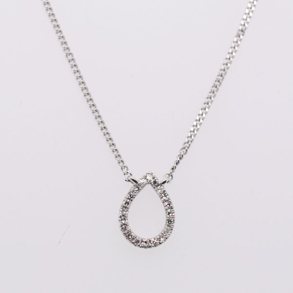 Diamond Open Pear Necklace