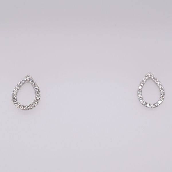 Diamond Open Pear Earrings