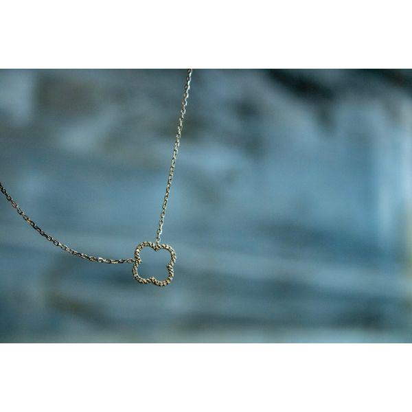 Sterling Silver Diamond Necklace Diamond Necklace  Image 2 Parris Jewelers Hattiesburg, MS