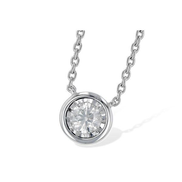 14 kt Bezel Set Diamond Necklace