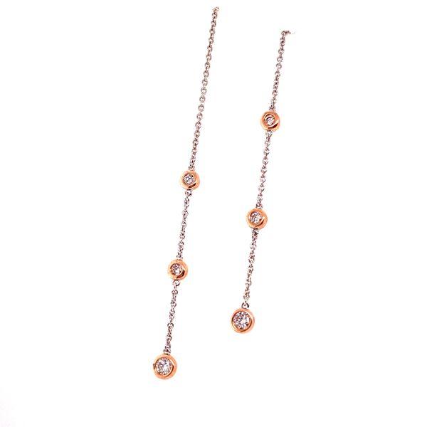 Dangle two-tone earrings