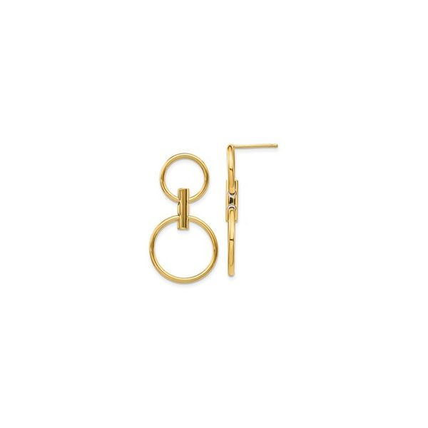 14 kt Yellow Gold Double Gold Circle Earrings