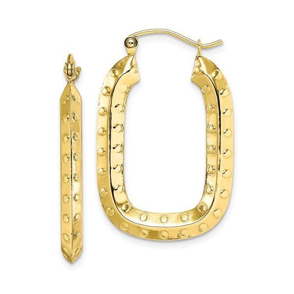 10 kt Yellow Gold  Rectangular Hoop Earrings