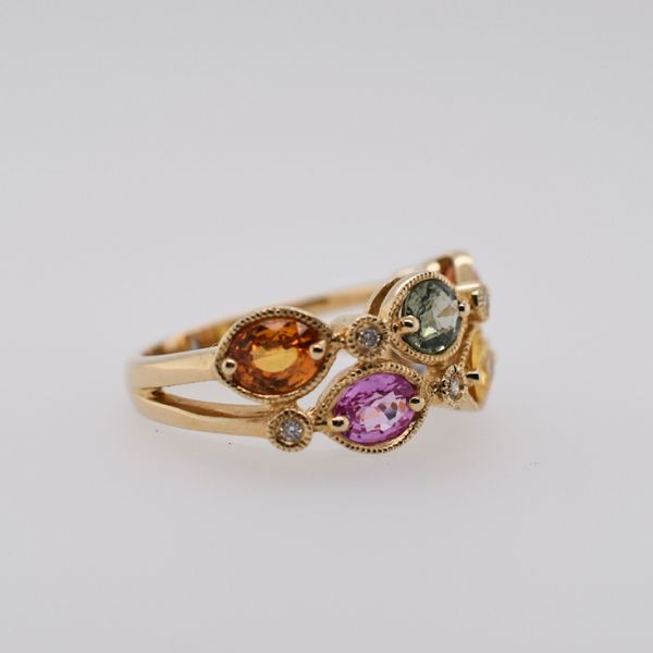 Multi-sapphire and Diamond Ring