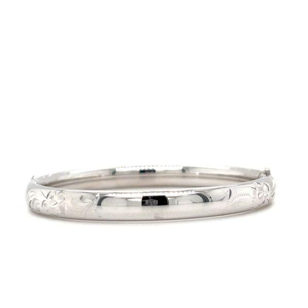 Sterling Silver Embossed Engravable Baby Bracelet