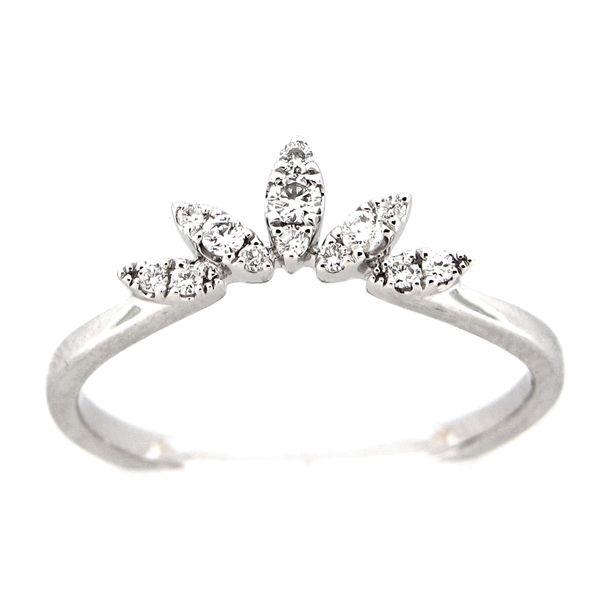 14 kt White Gold Crown Diamond Anniversary Ring