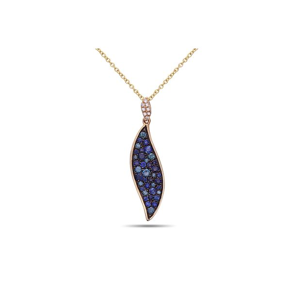 Blue Diamond and Sapphire Necklace