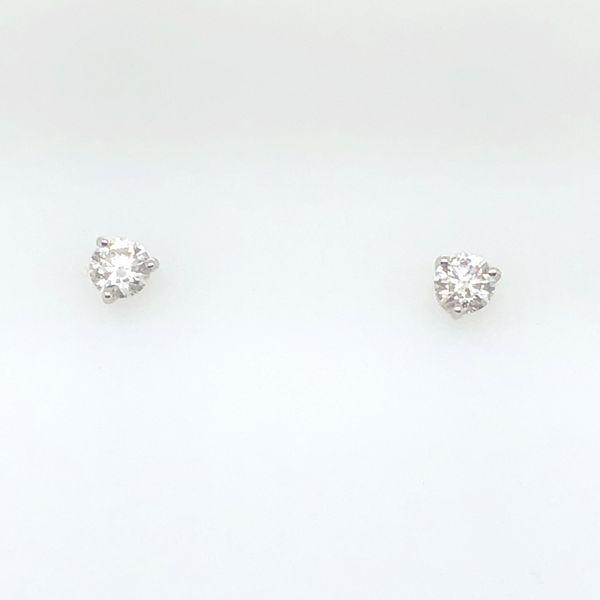 14 kt White Gold Diamond Stud Earrings