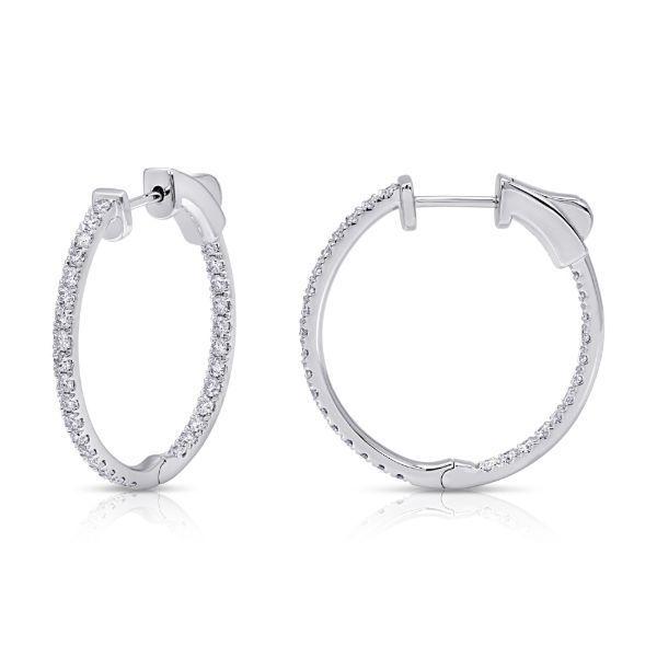 14 kt Diamond Hoop Earrings