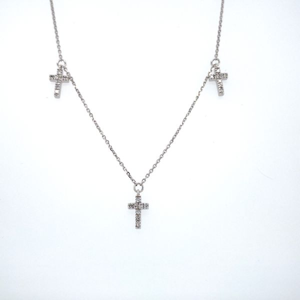 Diamond By the Yard Cross Necklace