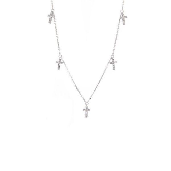 14 kt Diamond Cross Necklace