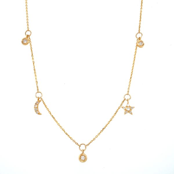 14 kt Yellow Gold Celestial Diamond Necklace