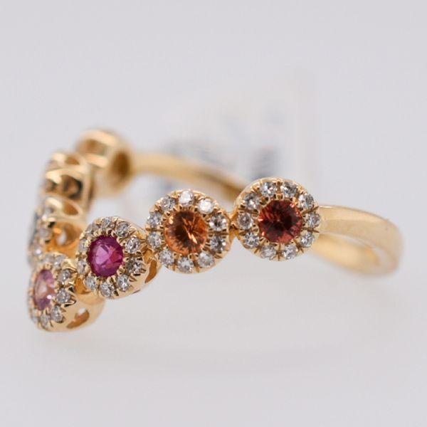 Sapphire & Tsavorite Garnet Ring