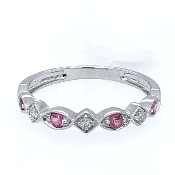 Pink Tourmaline Stackable Ring