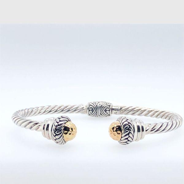 Sterling Silver and 18 kt Gold Bracelet