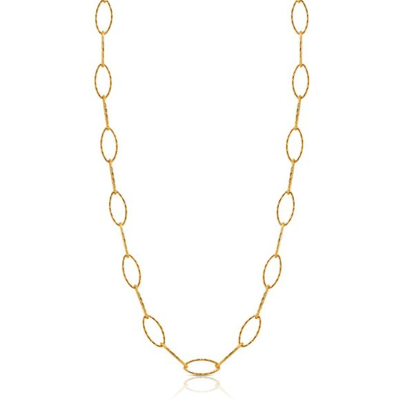 Yellow link chain necklace