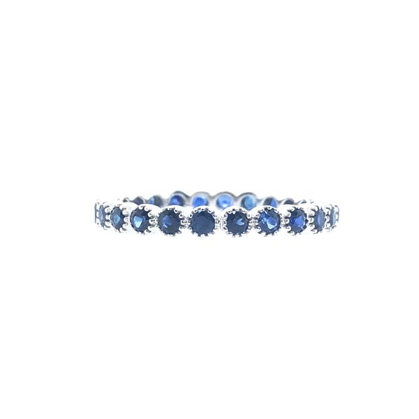 18 kt White Gold Sapphire Eternity Band