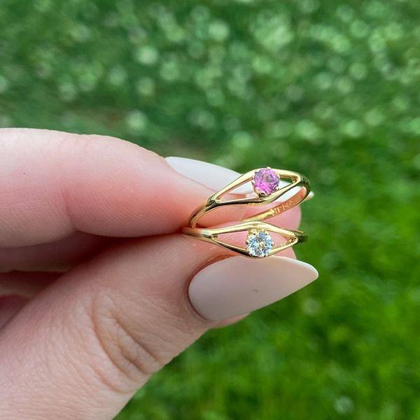 Children's April Birthstone Ring Image 2 Parris Jewelers Hattiesburg, MS