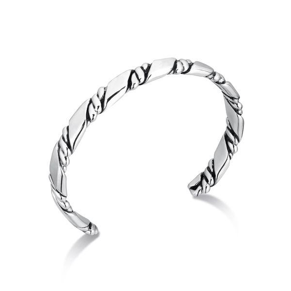 Men's Sterling Silver Cuff Bracelet Parris Jewelers Hattiesburg, MS