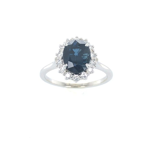 14 kt White Gold Sapphire and Diamond Ring