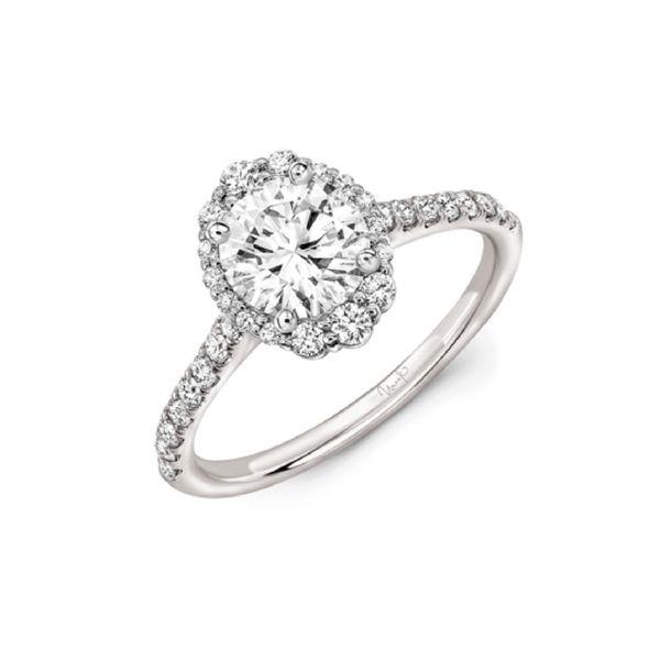 14 kt White Gold Engagement Ring Setting