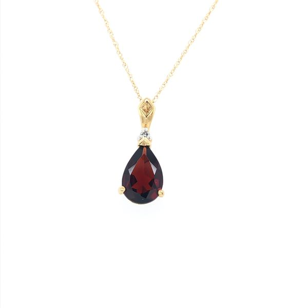 Garnet and Diamond Accent Necklace