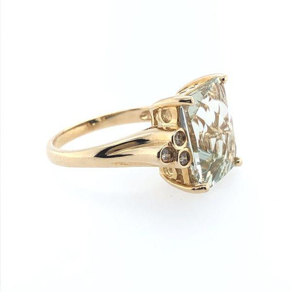 Light Green Amethyst Ring