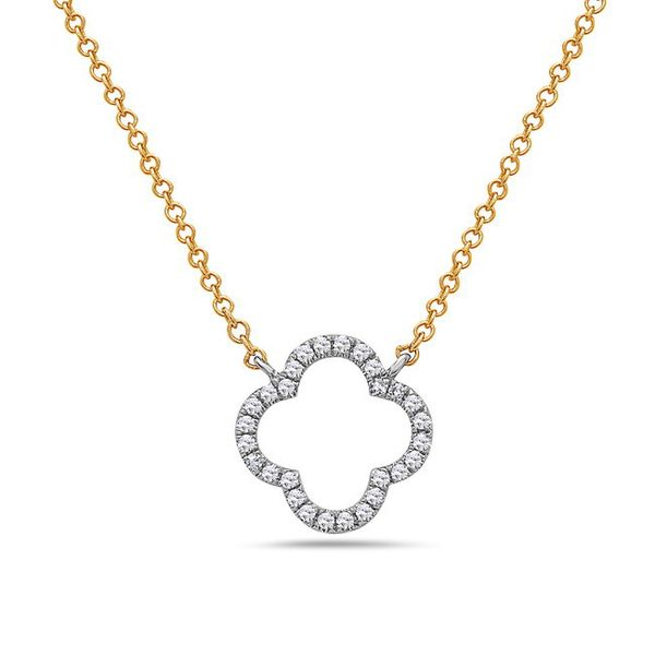 14 kt Two-Tone Gold Diamond Necklace