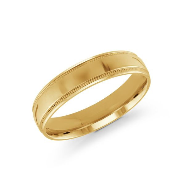 yellow gold 5mm wide wedding band