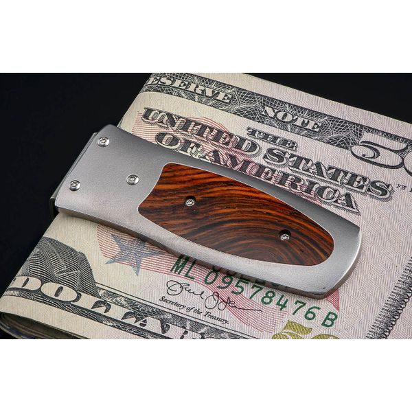 William Henry money clip with wood accent