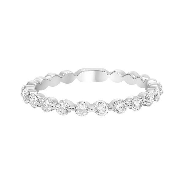 14 kt White Gold Diamond Wedding Band
