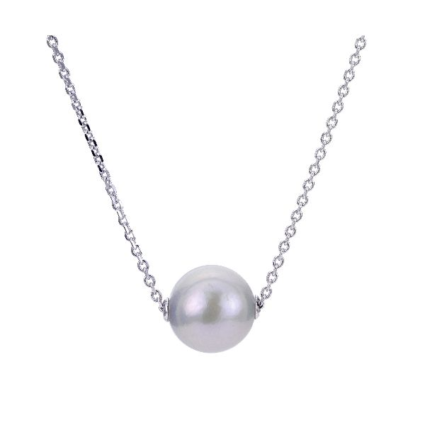Sterling Silver Pearl Pendant Necklace