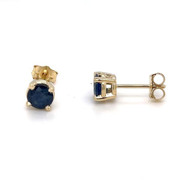 14 kt Yellow Gold Sapphire Prong Set Earrings