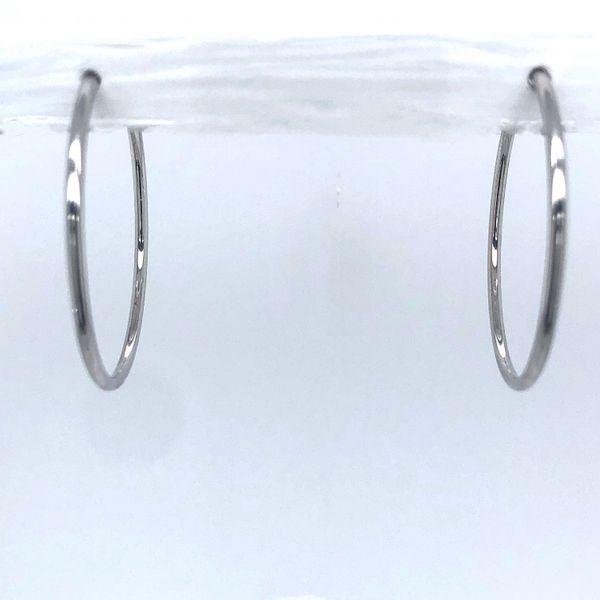 White Gold Hoop Earring